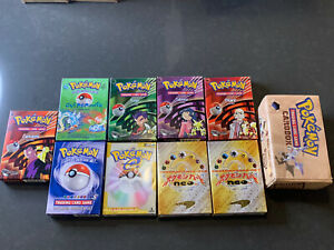 Empty Pokemon Theme Decks & Cardbox, Base Starter, Blaine, Overgrowth + Lot #16A