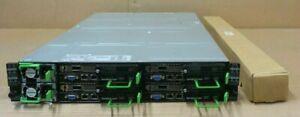Fujitsu Primergy CX600 M1 2U Chassis + 8x CX1640 M1 Nodes (Phi 7210/192GB/1TB)