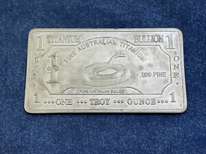 1 troy oz Australian 999 fine titanium bullion Bar B956