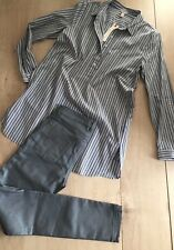 Esprit Bluse Hemdbluse Tunika Größe 38 NEU Longbluse Streifen