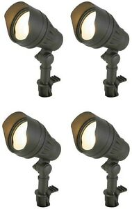 Outdoor Garden Security Flood Light Lamp, Weather Resistant, 50,000 Hrs, 4 Pack