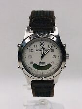 Timex Expedition Indiglo Analog Digital White Dial Watch Chronograph Alarm