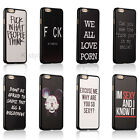 Cute Funny Joke Quotes Hard Back Case Skin Cover For Apple iphone4 4s 5 5c 5s