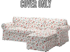 Ikea EKTORP COVER SLIPCOVER For Loveseat with Chaise VIDESLUND MULTICOLOR