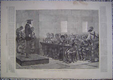 Prison Life on Blackwell's Island New York Harper's Weekly 1875 Original
