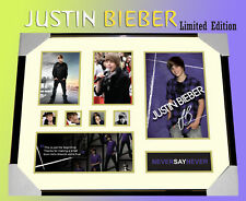 JUSTIN BIEBER  SIGNED FRAMED LIMITED 499