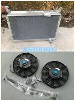 3 Row Aluminum Radiator+Fan For Nissan 300ZX 3.0L V6 1984-1989 85 86 87 88 New