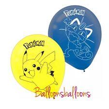 "6 x 12"" Pokemon  Latex Balloon Helium Party Birthday Decoration Pikachu"