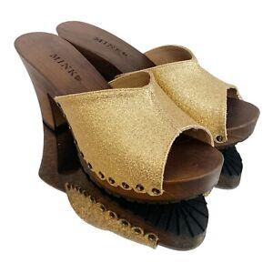 *FSC* Mink Brand Vegan 70's Inspired Glitter Shoe