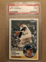 "1983 Topps New York Yankees HOF #240 RICH ""GOOSE"" GOSSAGE PSA 9 MINT"