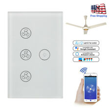 Smart Wi-Fi Wall Curtain Ceiling Fan Light Switch in Wall For Alexa Google Home