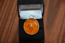Nice Gold Ring With Amber