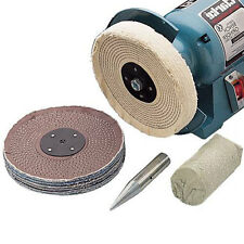 """Clarke CBK150C 6"""" Polishing Kit 12.7mm dia. spindle for bench grinder attachment"""