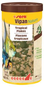 210G Sera Vipan Nature Large Flake Fish Food 1L Ornamental Aquarium Tank Variety