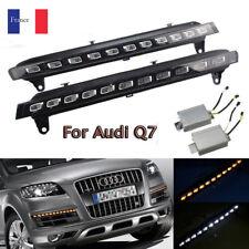 Pour Audi Q7 LED DRL Phare Feux Jour Diurne Lampe Clignotants Jaune contrôleur