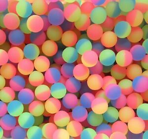 """15 NEON ICY FROSTED SUPER HIGH BOUNCE BALLS HI BOUNCY SUPERBALL CAT TOY 27MM 1"""""""