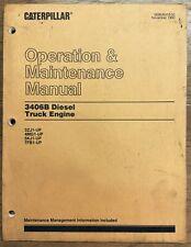 Caterpillar 3406b Diesel Truck Engine Manual Booklet 3zj1 4mg1 5kj1 7fb1 1989 91