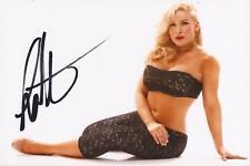 WWE WRESTLING: NATALYA SIGNED 6x4 SEXY PORTRAIT PHOTO+COA