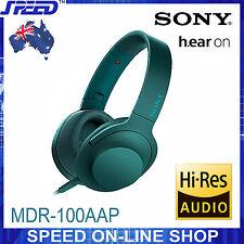 SONY MDR-100AAP h.ear on Hi-Res Stereo Headphones - Viridian Blue
