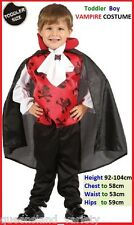 Toddler boy VAMPIRE Dracula COSTUME Halloween Party ~ Chest 58cm Height 92-104cm