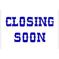Closing Soon Sticker - Office Door Sign Decal