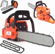 "Heavy Duty Petrol Chain saw Saw 55869 Cutter 20"" 52cc 2.2kw + 2 Chains + Cover"