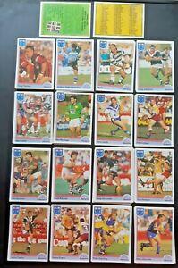 1992 Regina NSW Rugby League (NRL) Cards - Team Sets