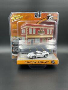 Johnny Lightning Cars N Coffee Diorama Ford Gt White Lightning
