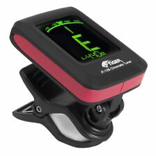 Tiger Clip On Chromatic Guitar Tuner - Electric, Acoustic,  Bass & Ukulele