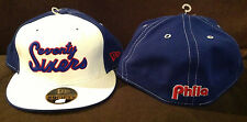 "Philadelphia 76ers New Era 59FIFTY NBA Fitted Hat ""SEVENTY SIXERS"" Retro 7 3/4"