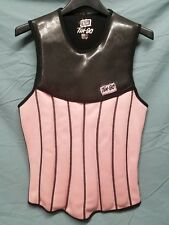 Ten-80 Corset Style Pull-over Vest Jacket - Pink/Blk Women's Size 12 <WC1> 1261