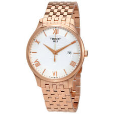 Tissot Tradition Silver Dial Mens Rose Gold Tone Watch T063.610.33.038.00