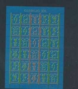 XC78392 Faroe Islands 1981 jol christmas good sheet MNH