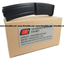 MAG Box of 6 Pieces 100rd MP7 Magazine for Airsoft Marui AEG