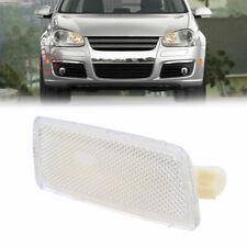 White Front Side Marker Light Lamps Lens For VW GTI/JETTA/RABBIT MK5 05-2009