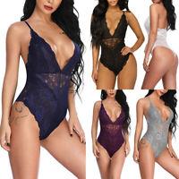 Women's Lace Babydoll Lingerie Underwear Nightwear Bodysuit Jumpsuit Catsuit Hot
