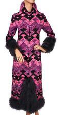 Vintage Tapestry Evening Gown Marabou Feather Ulrique Paris Couture Dress - S