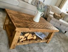 BESPOKE HANDMADE RUSTIC FARMHOUSE STYLE WOODEN COFFEE TABLE