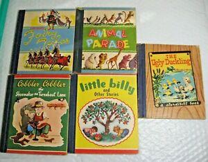 LOT 5 Samuel Lowe VTG Kids books 1940's Cobbler Little Billy Grimm's Animal Ugly