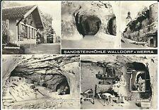 Ansichtskarte Sandsteinhöhle Walldorf/Werra - Wehrkirche - Großformat A5
