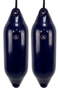 2 x HURRICANE Boat Fenders: Navy PM04 - FREE ROPE + INFLATED