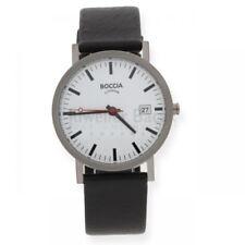 Boccia Reloj de hombre cuero 3538-01 Titanio Clásico 69
