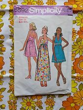 SIMPLICITY 5592 sewing pattern CHECKED / COMPLETE 1973 vintage retro MATERNITY