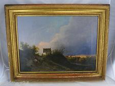 """Für Kunstliebhaber: Öl-Gemälde auf Leinwand - """"Landschaft""""  / Goldrahmen (Holz)"""