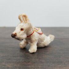 Vintage Antique Miniature 1.5 inch Mohair Dog - Terrier Toy