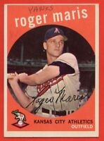 1959 Topps #202 Roger Maris EX-EXMINT MARKED Kansas City Athletics Yankees