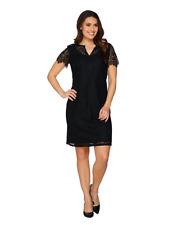 A288921 C. Wonder Garden Party Split Neck Short Sleeve Lace Dress 10