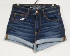 American Eagle Women's Size 8 Hi-Rise Shortie Super Stretch Distressed Shorts