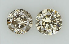 Natural Loose Diamond Brown Color Round I1 Clarity 2 Pcs 0.14 Ct N6416