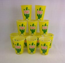 12 Vintage TACO TIME Cactus Yellow Green Wax Paper Solo Cups NOS
